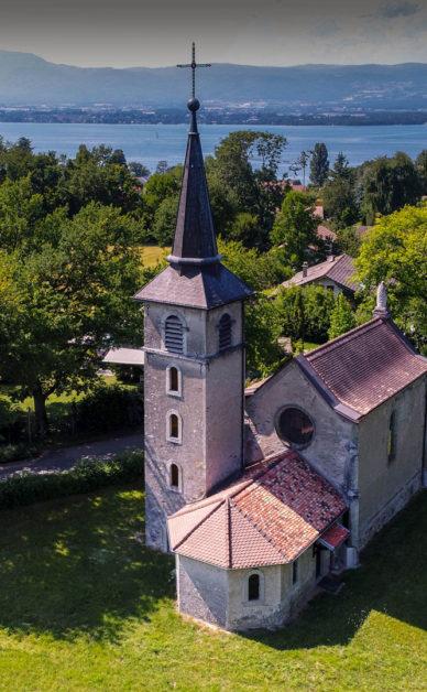 Drone Léman - Chapelle Notre Dame du Lac, Nernier - la prise de vue par drone pour la valorisation du patrimoine