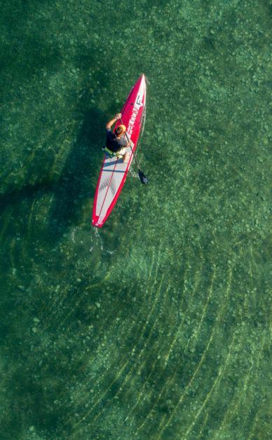 Drone Léman : randonnée stand up paddle sur le lac Léman