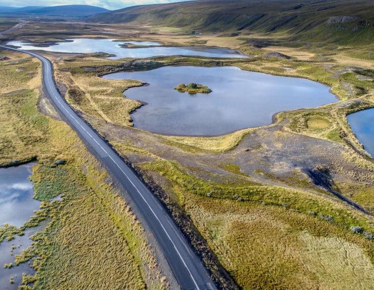 islande vue du ciel par drone - iceland skyview
