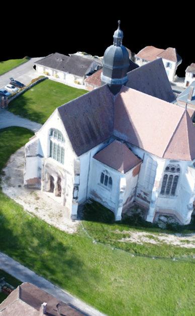 Modélisation 3D d'une église classée - 3D modeling of a listed church