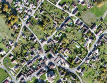 plan local d'urbanisme - Orthomosaïque et modèle numérique de surface communale